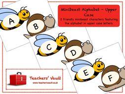Minibeast Upper Case Alphabet Display