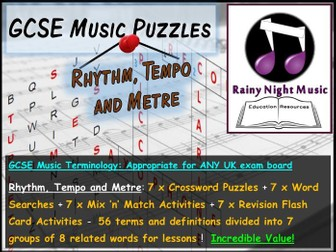 GCSE Music Language for Learning RHYTHM TEMPO METRE Bellringers Starters Revision Activities