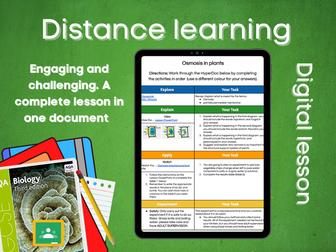 SB1.8 Osmosis in plants Distance learning (AQA GCSE Bio)