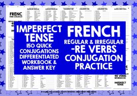 FRENCH--RE-VERBS-IMPERFECT-TENSE.zip