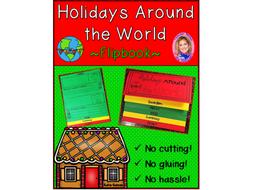 Holidays Around the World DOUBLE-SIDED Flipbook!