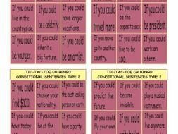 Conditional Sentences Type 2 Tic-Tac-Toe or Bingo
