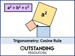 Trigonometry 5 - The Cosine Rule (+ worksheet)
