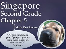 Singapore 2nd Grade Chapter 5 Math test review (4 pages)