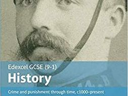 Crime and Punishment knowledge organiser and tests - Edexcel 9-1 History GCSE paper 1