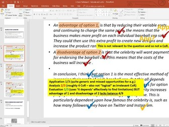 Exam Technique Lesson 3 - Calculate and Justify - GCSE Edexcel Business
