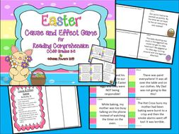 Easter Cause and Effect Reading Comprehension Activity