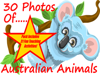 30 Photos and images of Australian animals PowerPoint Presentation + 31 Fun Teaching Activities