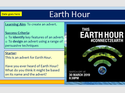 Analysing Adverts - Earth Hour