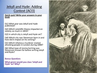 Dr Jekyll and Mr Hyde - Context