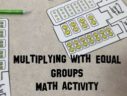 Multiplying with Equal Groups Matching Math Activity 3.oa.1