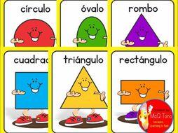Spanish Shapes Figuras Geometricas By Makutono Teaching