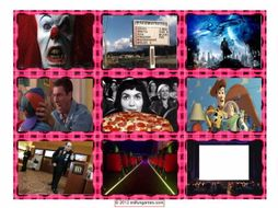 Movie Things & Genres Cards 4 Pages = 36 Cards