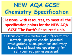 NEW AQA GCSE Chemistry - The Earth's Resources