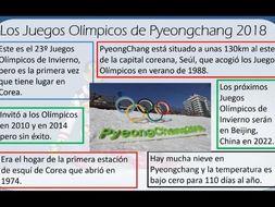 Los Juegos Olimpicos 2018