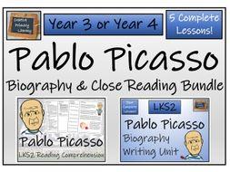 LKS2 Art - Pablo Picasso Reading Comprehension & Biography Bundle