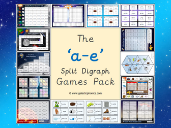 The 'a-e' split digraph phonics games pack