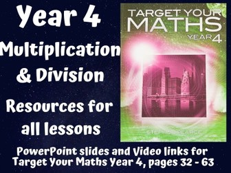 Target Your Maths Year 4 - Multiplication and Division (resources for all lessons)