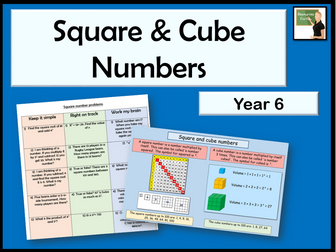 Maths- square & cube numbers- Year 6