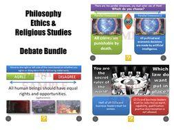 GCSE Religious Studies Debate Generators [Philosophy, Ethics & Religion Debate Bundle]