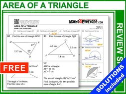 Area of a Triangle: Advanced (GCSE Topic Review)