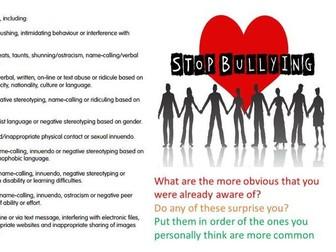 PSHE Bullying