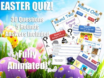 Art & Design - Easter Quiz! KS2, KS3, KS4 [Easter Quiz]