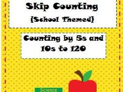 Skip Counting by 5s and 10s: School Themed