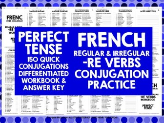 FRENCH -RE VERBS PERFECT TENSE