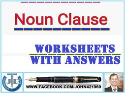 Noun clauses worksheets with answers