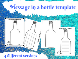 Message in a bottle writing template