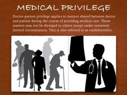 Medical Law Presentation ~ Privilege Malpractice Ethics Consent + Test + FC   81 Slides