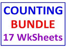 Counting BUNDLE (17 Worksheets)