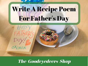 Father's Day Poetry Ideas - Make A Recipe Poem For Your Dad