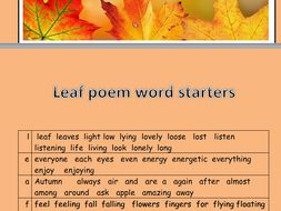 ks1 2 autumn acrostic poetry templates by newromantic teaching