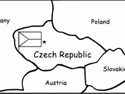 CZECH REPUBLIC - Printable handouts with map and flag