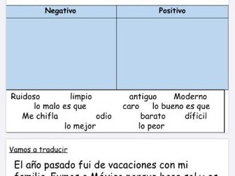 Year 9 Spanish consolidation booklet