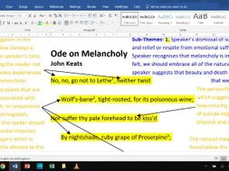 Ode on Melancholy - Fully Annotated Poem CIE