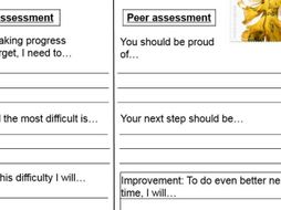 Peer and self assessment postcards