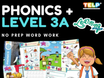 Phonics 3A - Introducing letter Sounds and simple blending -AI, J, OA, IE, EE, O
