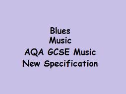Blues Music AQA GCSE Music New Specification