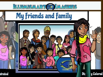 Friends and Family of India-Indian CommUNITY: 34 pc. ClipArt BW and Color!