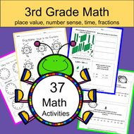 3rd Grade Math: Place Value, Time, and Number Sense