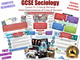 Media Representations & Moral Panics - Crime & Deviance L19/20 [ AQA GCSE Sociology - 8192] Folk New