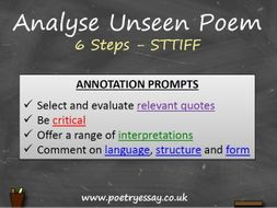 How To Analyse A Poem (GCSE / A Level)