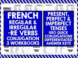 FRENCH -RE VERBS CONJUGATION PRACTICE