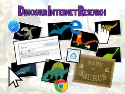 Dinosaurs - Computing Internet Research Skills - 2 Lesson mini unit - Year 1 & 2