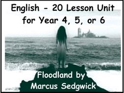20 lessons – 'Floodland' by Marcus Sedgwick – Year 4/5/6 – English planning