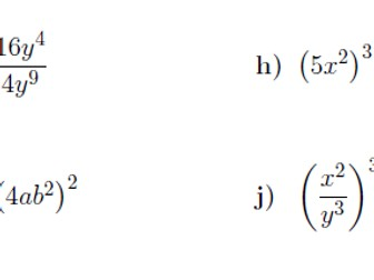 Indices worksheet no 7 (with solutions)