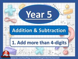 Year 5 – Addition and Subtraction – Add more than 4-digits - White Rose Maths